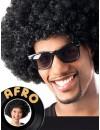 Perruque afro noire années 70 pour hommes et femmes