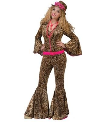 Déguisement pimp léopard femme luxe