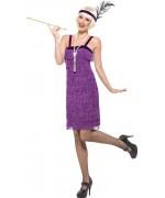 déguisement charleston femme couleur lilla - costume années 30, années 20