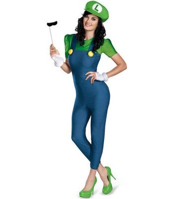 Déguisement Luigi femme