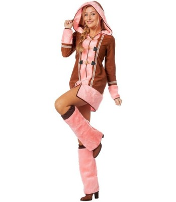 Déguisement esquimau rose femme