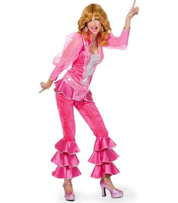 Déguisement disco rose femme luxe