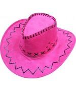 Chapeau de cowboy et cowgirl rose idéal pour une soirée country ou western