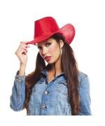 Chapeau cowboy rouge pour hommes et femmes