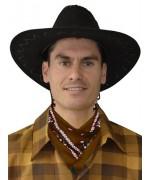 Bandana marron en tissu - accessoire Western & Farwest