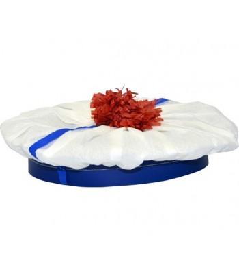 Béret marin blanc en crépon