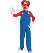Déguisement Mario bébé avec combinaison, casquette et faux ventre