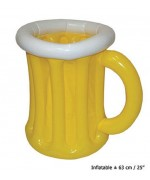 Verre de bière gonflable 63 cm, idéal pour la fête de la bière ou l'Oktoberfest