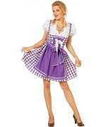 Déguisement tyrolienne violette femme dirndl - costume Octoberfest