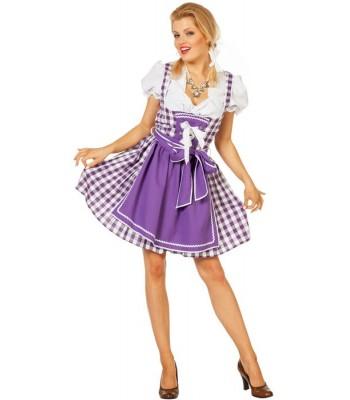Déguisement tyrolienne  violette femme