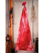 Sac avec cadavre en sang halloween décoration