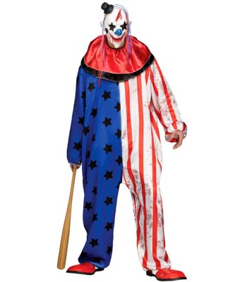 Déguisement clown tueur americain halloween