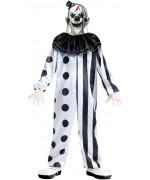 Déguisement de clown tueur noir et blanc pour enfant