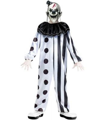 Déguisement clown noir et blanc halloween enfant