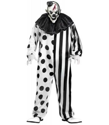 Déguisement clown tueur noir et blanc halloween