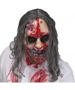 Masque de zombie avec pompe à sang