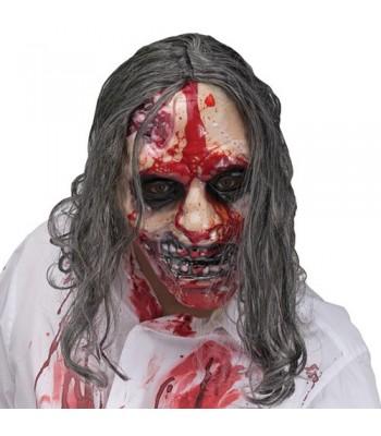 Masque zombie avec pompe à sang