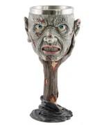 Verre à pied zombie en résine et metal - décoration halloween