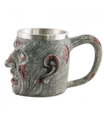 Mug zombie en resine et metal