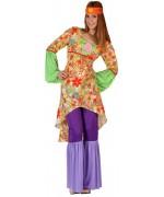 Déguisement hippie pour femme, flower power année 60