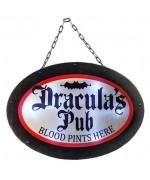 Pancarte lumineuse dracula's pub - décoration pour halloween