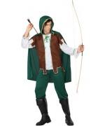 déguisement d'archer pour homme, justicier avec cape à capuche