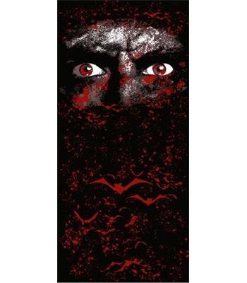 Chemin de table vampire noir et rouge