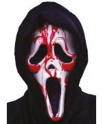 Masque Scream avec pompe à sang