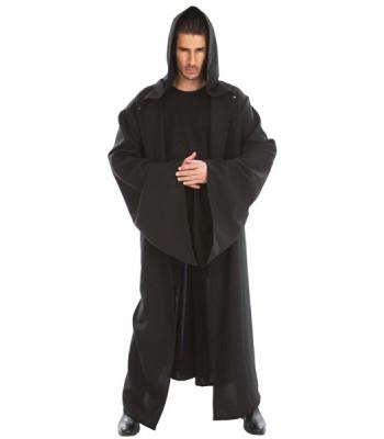 Cape à capuche chevalier noir