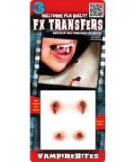 Morsures de vampire transfert 3D - effets spéciaux pour maquillage halloween
