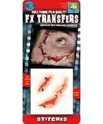 Transfert 3D cicatrices avec agrafes, réalisez vos propres points de suture