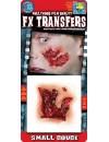 Maquillage peau arrachée transfert 3D