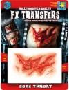Transfert 3D blessures gorge arrachée