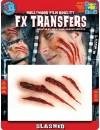 Transfert 3D entailles profondes - maquillage Halloween réaliste