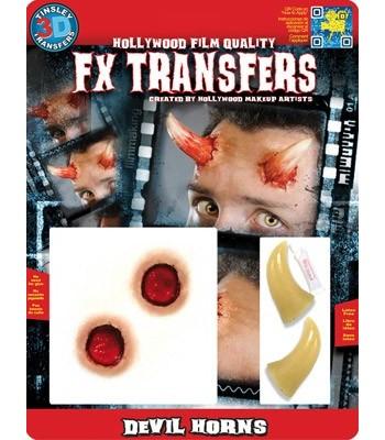 Cornes de diable 3D transfert