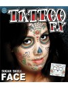 Tatouage mexicain jour des morts - maquillage halloween