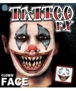 Tatouage clown halloween, réalisez simplement tous vos maquillages pour halloween
