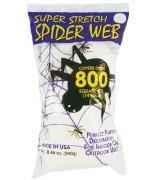Toile d'araignée 240 gr blanche ultra élastique idéale pour votre décoration d'halloween
