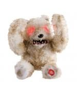 Ours en peluche animé avec son et lumière, idéal pour votre décoration d'halloween