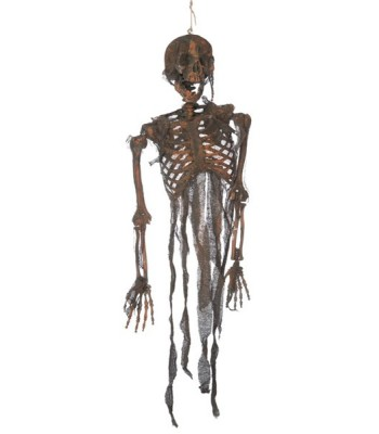 Squelette brulé halloween