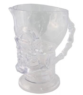 Pichet transparent tête de mort