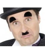 Moustaches et sourcils Charlie Chaplin, l'accessoire idéal pour le déguisement Charlot.