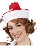 Bob marin avec pompon rouge - chapeau marin