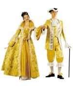 Costume de marquise jaune - Carnval de Venise