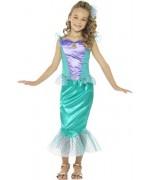 Déguisement de sirène pour fille et adolescente avec robe et pince à cheveux