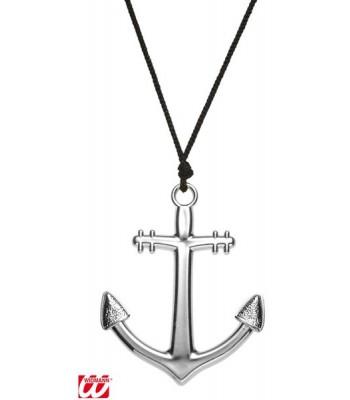 Collier marin pendentif ancre