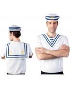 Col de marin blanc et bleu idéal pour créer votre propre déguisement de marin