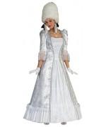 Longue robe de marquise blanche pour adulte - Costume carnaval de Venise