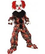 Déguisement de clown tueur pour enfant, costume avec masque et chaussures