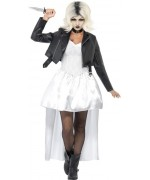 Déguisement fiancée de Chucky, robe, veste et tour de cou - costume halloween